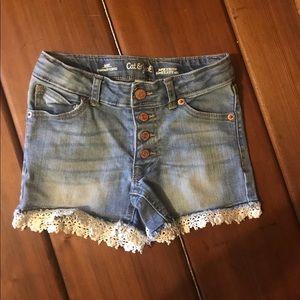 Cat & Jack light wash denim shorts